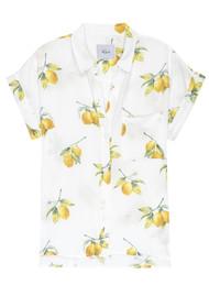 Rails Whitney Silk Shirt - White Lemons