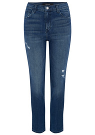 J Brand Ruby High Rise Cropped Cigarette Jeans - Mystic