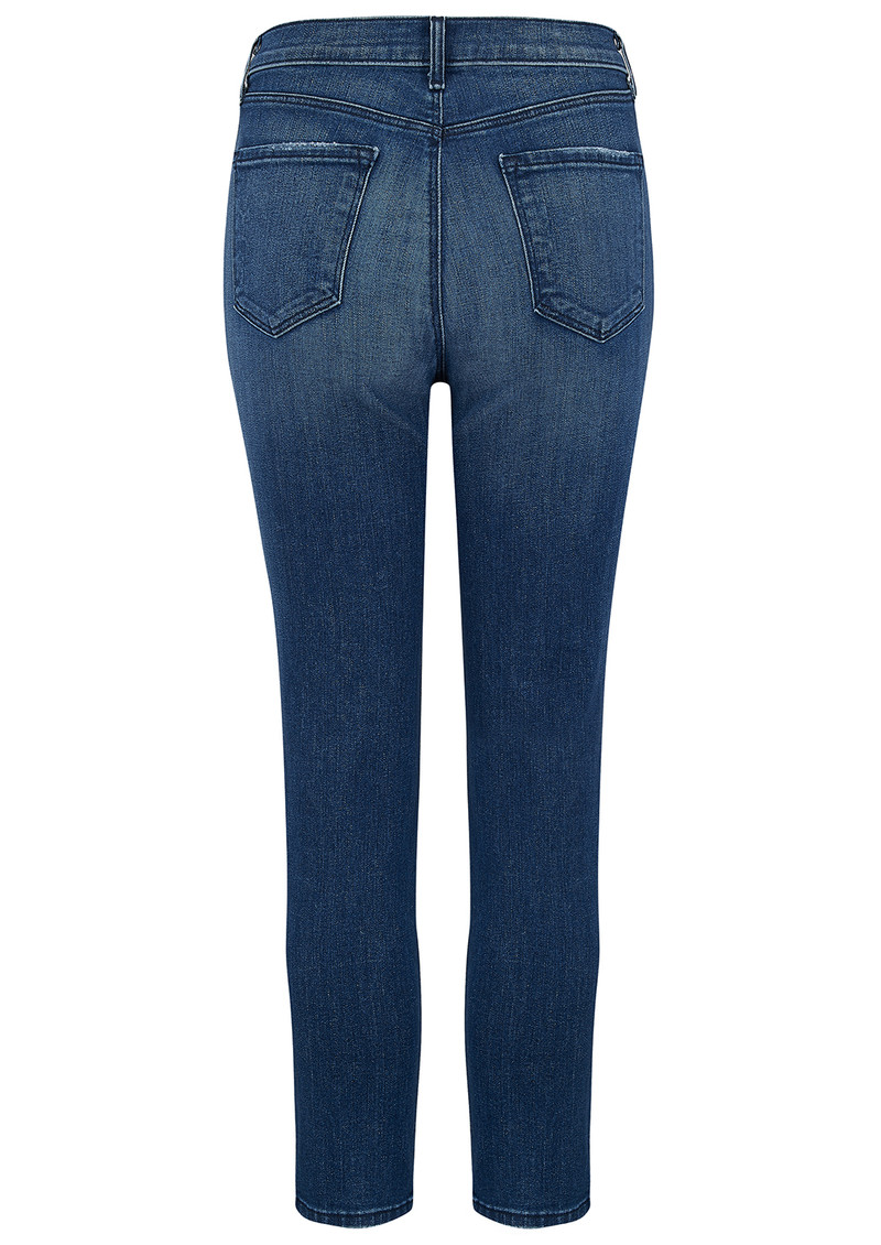 J Brand Ruby High Rise Cropped Cigarette Jeans - Mystic main image