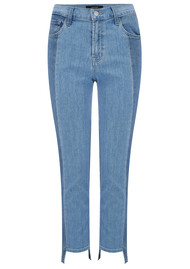 J Brand Ruby High Rise Cropped Cigarette Jeans with Stepped Hem - Genesis