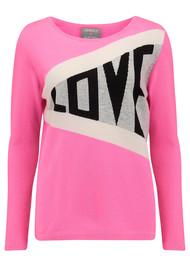 ORWELL + AUSTEN Exclusive Love Jumper - Pink & Grey