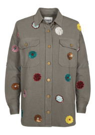 ESSENTIEL ANTWERP Rafael Embellished Jacket - Vetiver
