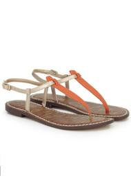 Sam Edelman Gigi Sandals - Gold & Orange Linen