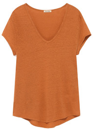 American Vintage Lolosister Linen Tee - Apricot