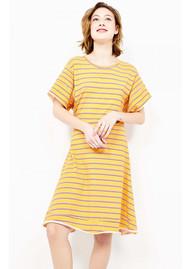 American Vintage Pipoun Short Sleeve Dress - Retro Stripe