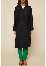 Ba&sh Arrow Trench Coat - Navy