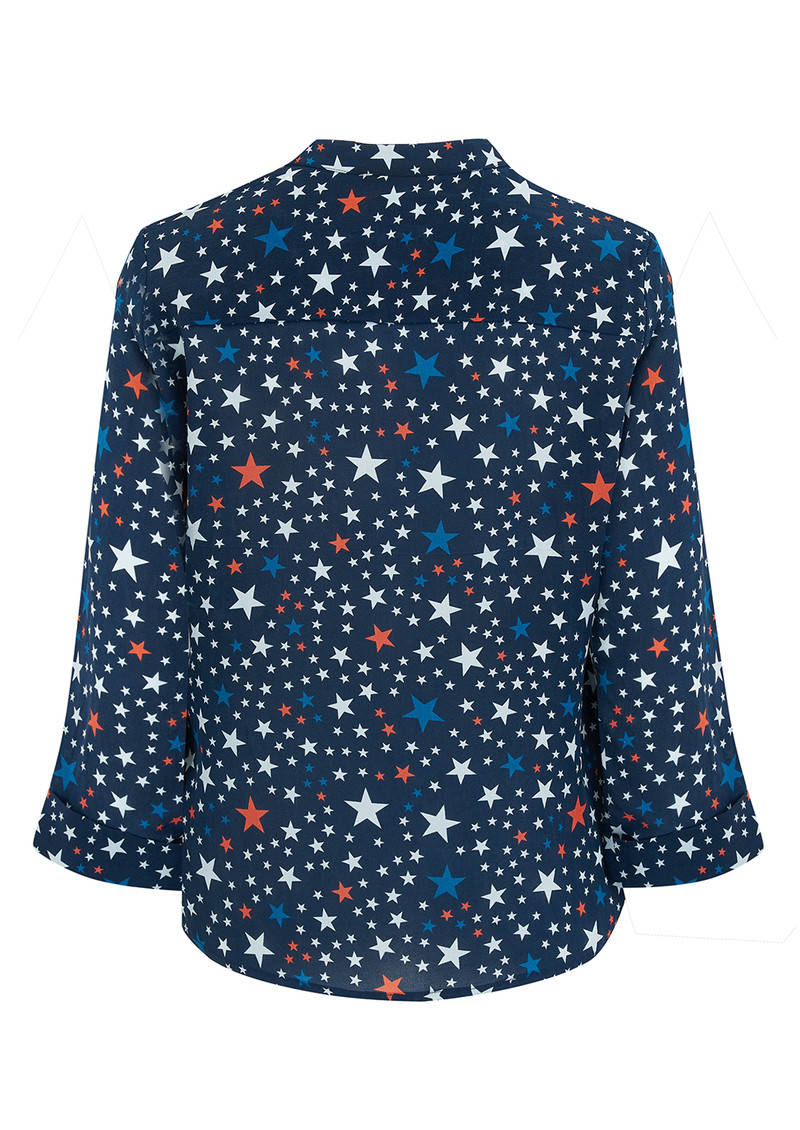 Pyrus Exclusive Hive Blouse - Stars Navy main image