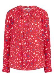 Pyrus Annie Long Sleeve Blouse - Stars Red