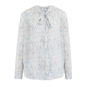 Annie Long Sleeve Blouse - Python Pastel
