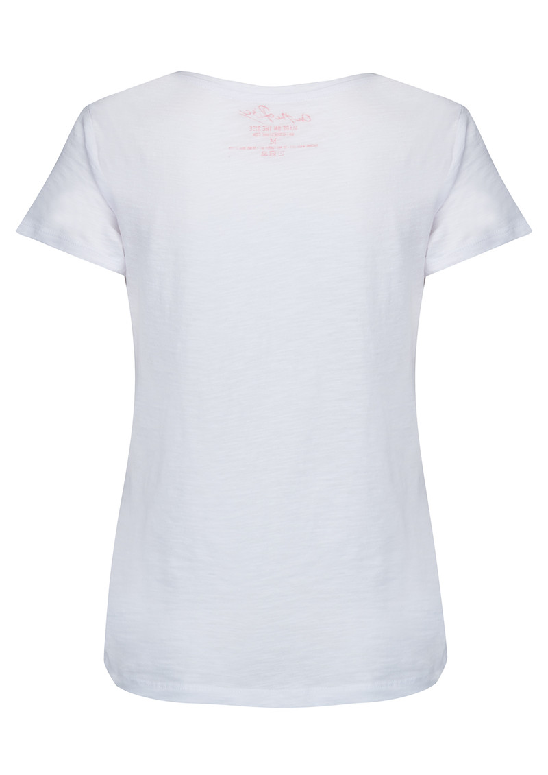 ON THE RISE Concentric Hearts Tee - White Multi main image