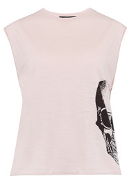 360 SWEATER Baylee Cotton Tank Top - Ballet & Charcoal
