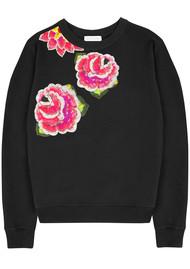 UZMA BOZAI Rosa Floral Sweatshirt - Black
