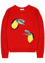 UZMA BOZAI Mia Toucan Sweatshirt - Scarlet