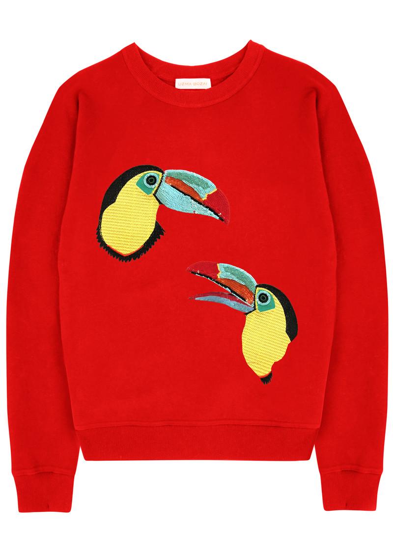 UZMA BOZAI Mia Toucan Sweatshirt - Scarlet main image