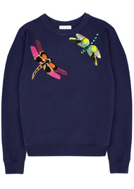 UZMA BOZAI Silvia Dragonfly Sweatshirt - Navy