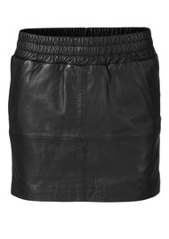 MDK Vera Leather Skirt - Black