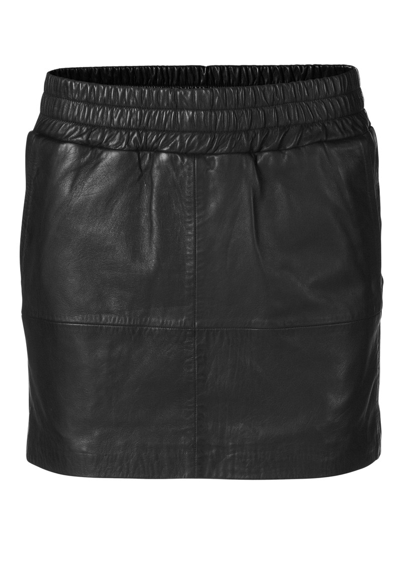 Vera Leather Skirt - Black  main image