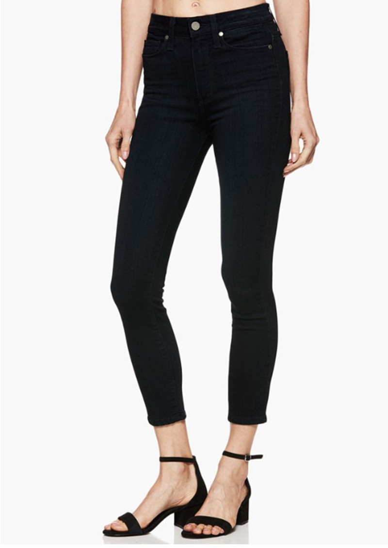 Margot Crop Ultra Skinny Jeans - Tonal Mona main image