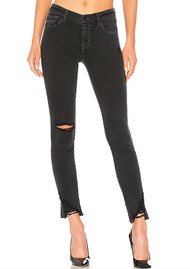 J Brand 811 Mid Rise Skinny Jeans - Hendrix Destruct