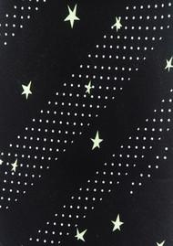 ROCKINS Classic Skinny Silk Scarf - Polka Stars Black