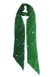 ROCKINS Super Skinny Silk Scarf - Polka Stars Green