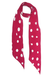 ROCKINS Super Skinny Silk Scarf - Redlands Polka