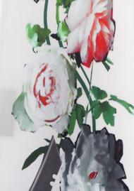 ROCKINS Classic Skinny Silk Scarf - Flora Ivory 2