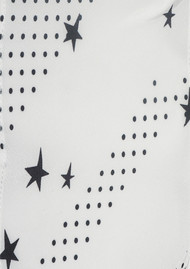 ROCKINS Super Skinny Silk Scarf - Polka Stars Ivory