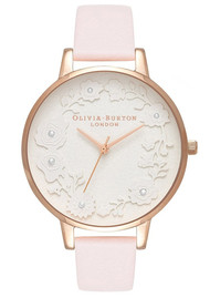 Olivia Burton Artisan Big Dial Watch - Blossom & Rose Gold