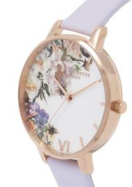 Olivia Burton Enchanted Garden Big Dial Watch - Violet & Rose Gold