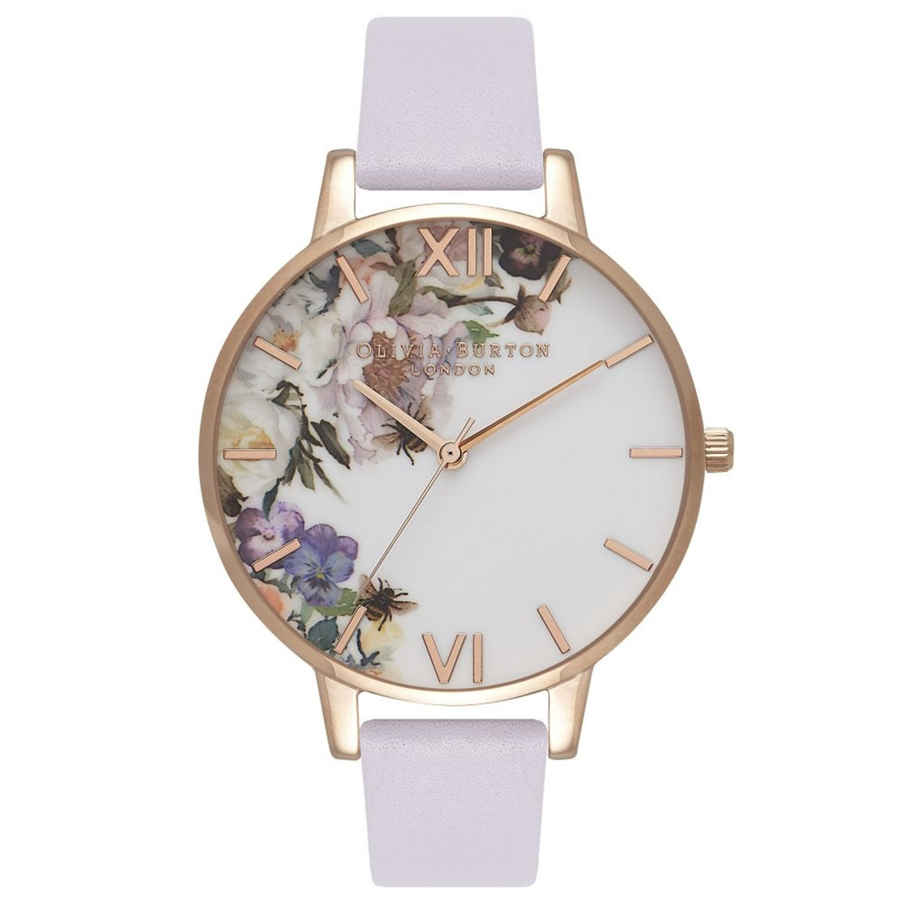 Enchanted Garden Big Dial Watch - Violet & Rose Gold