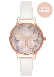 Olivia Burton Glasshouse Vegan Friendly Midi Dial Watch - Blush & Rose Gold