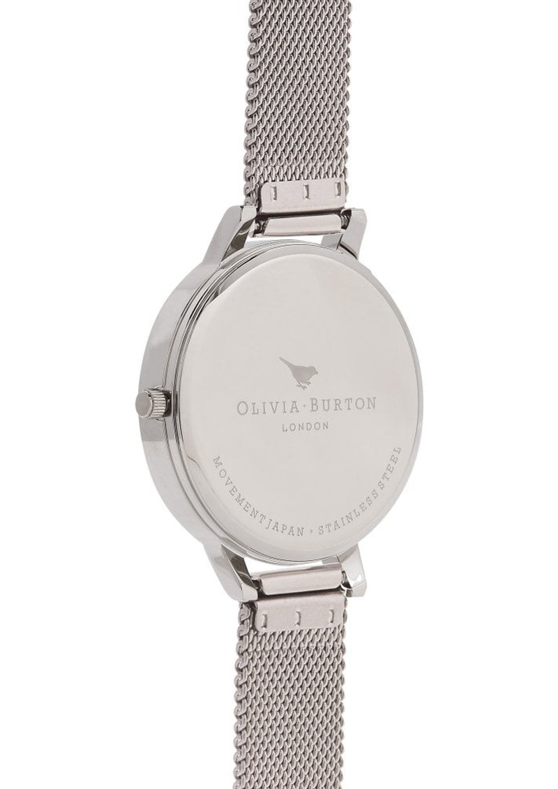 Olivia Burton Marble Florals Big Dial Mesh Watch - Rose Gold & Silver main image