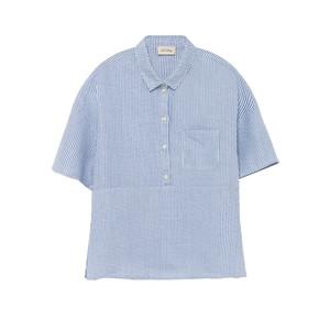 Mukadance Linen Shirt - Blue Stripe
