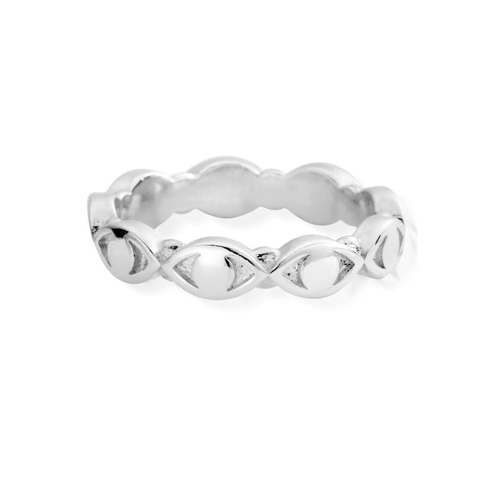 Evil Eye Ring - Silver