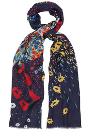 Lily and Lionel Poppy Field Silk Scarf - Multi