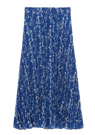 Ba&sh Sina Pleated Midi Skirt - Blue