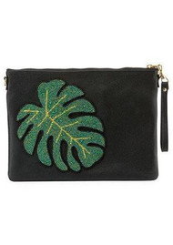 TEA & TEQUILA Colima Monstera Leaf Bag - Ink Black
