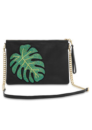 Colima Monstera Leaf Bag - Ink Black