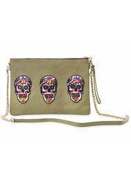 Sonora Sugar Skull Bag - Olive