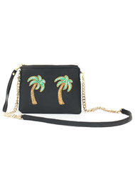 TEA & TEQUILA Tulum Palm Tree Bag - Ink Black