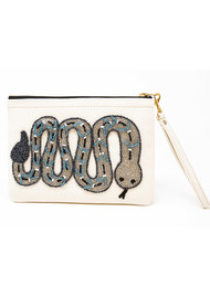 TEA & TEQUILA Sayulita Snake Bag - White