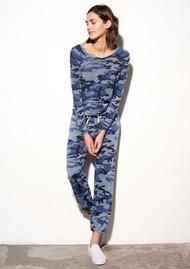 SUNDRY Crop Pullover - Vintage Blue