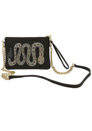 TEA & TEQUILA Sayulita Snake Bag - Ink Black