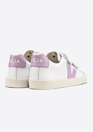 VEJA Esplar 3 Lock Leather Trainers - Extra White & Lilac