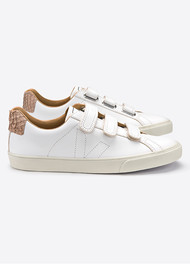 VEJA Esplar 3 Lock Leather Trainers - Extra White & Tilapia