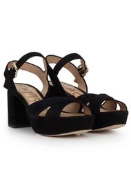 Sam Edelman Jolene Suede Platform Sandal - Black