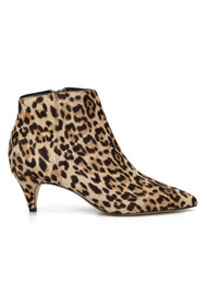 Kinzey Kitten Heel Boot - Leopard Nude