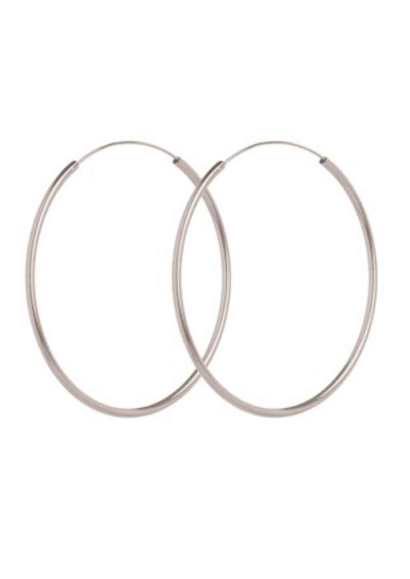 Large Plain Hoop - Silver main image