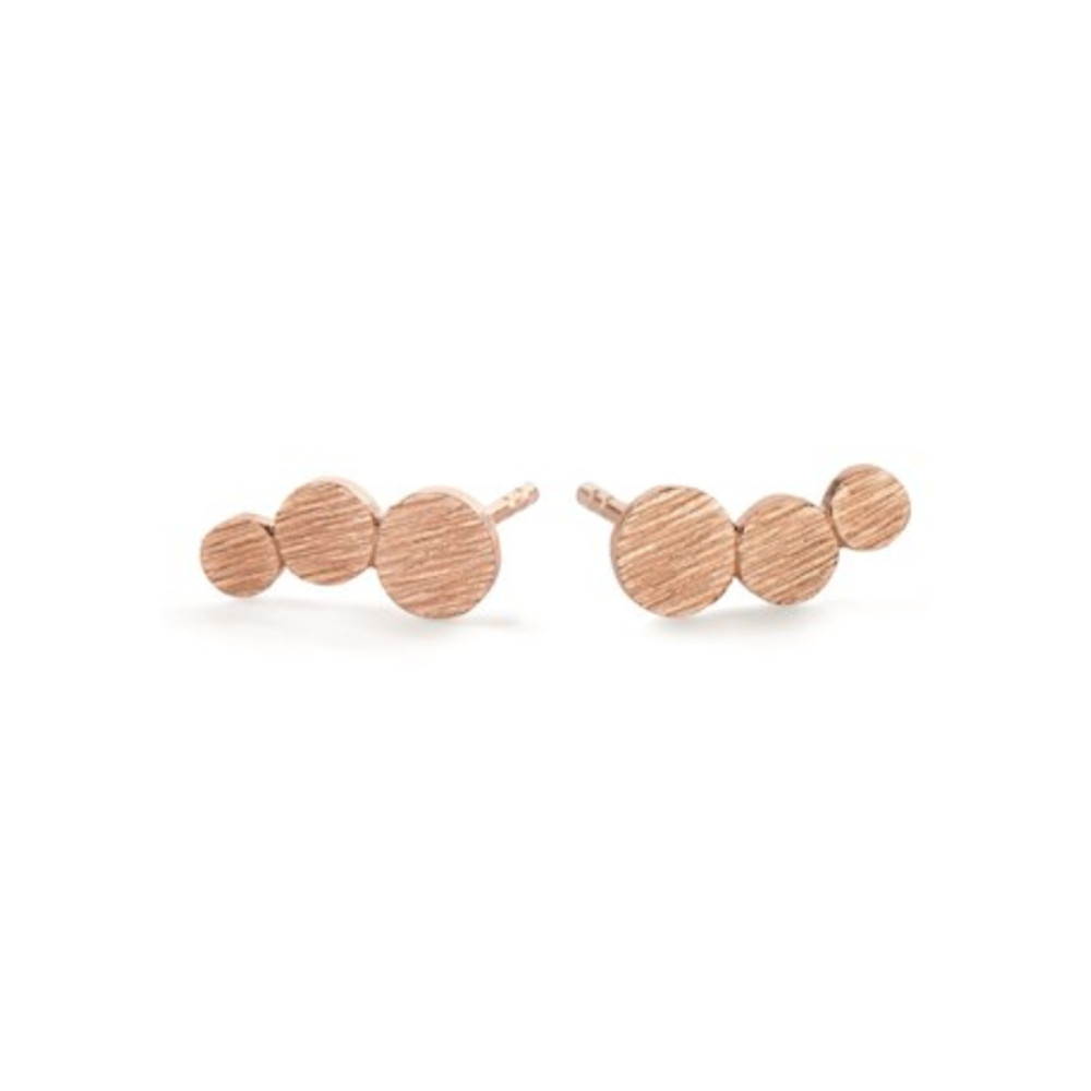 Small Multi Coin Earrings - Rose Gold